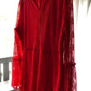 ASOS Curve Dresses - Red lace dress- never worn